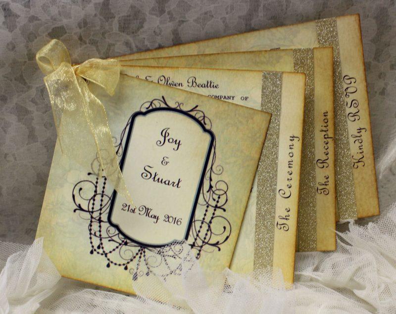 Shabby Chic & Vintage Invitation Booklets