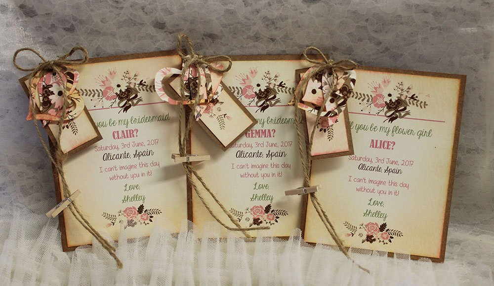 Floral Pink Tone Bridesmaid Card