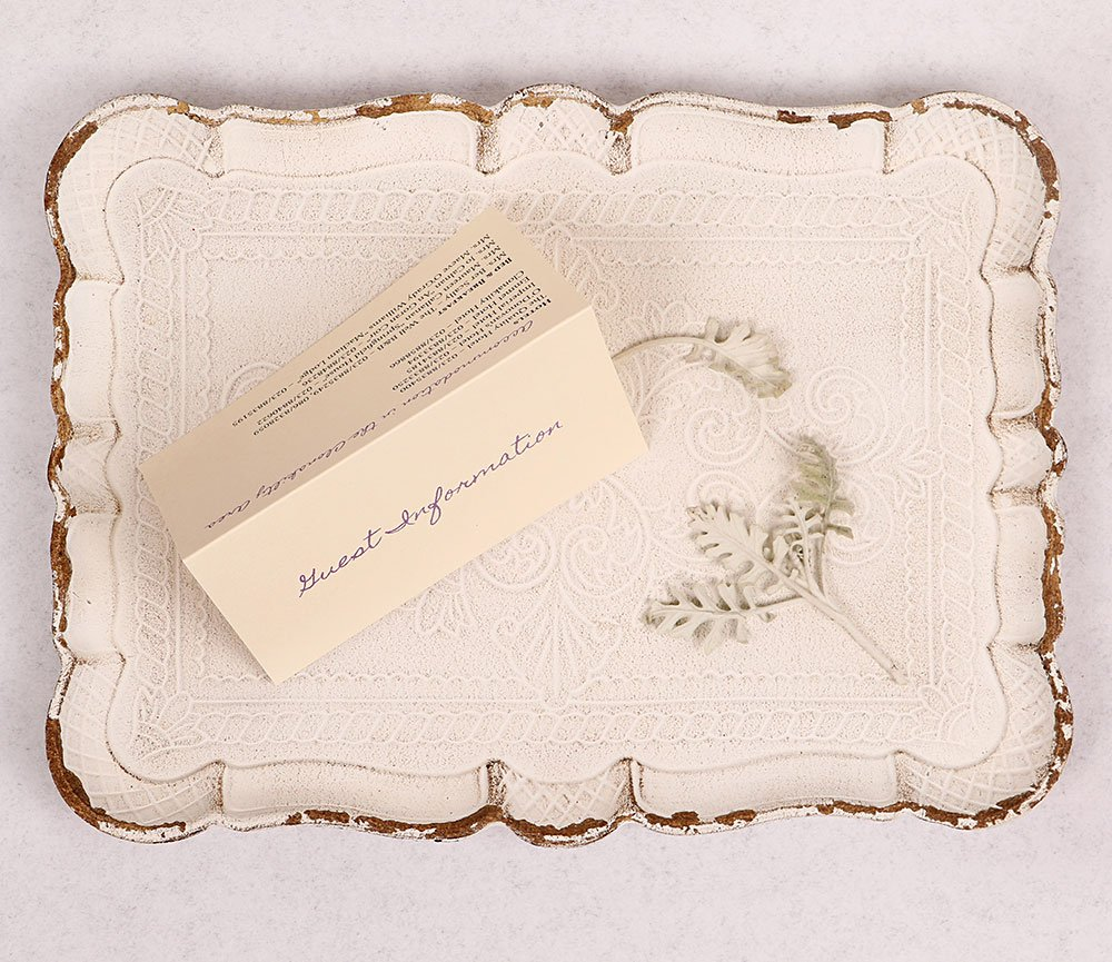 Lacey Guest Information Card Lavender