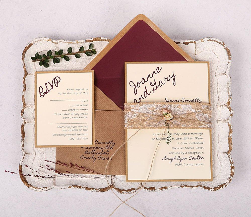 Lacey Wedding Invitation Kit