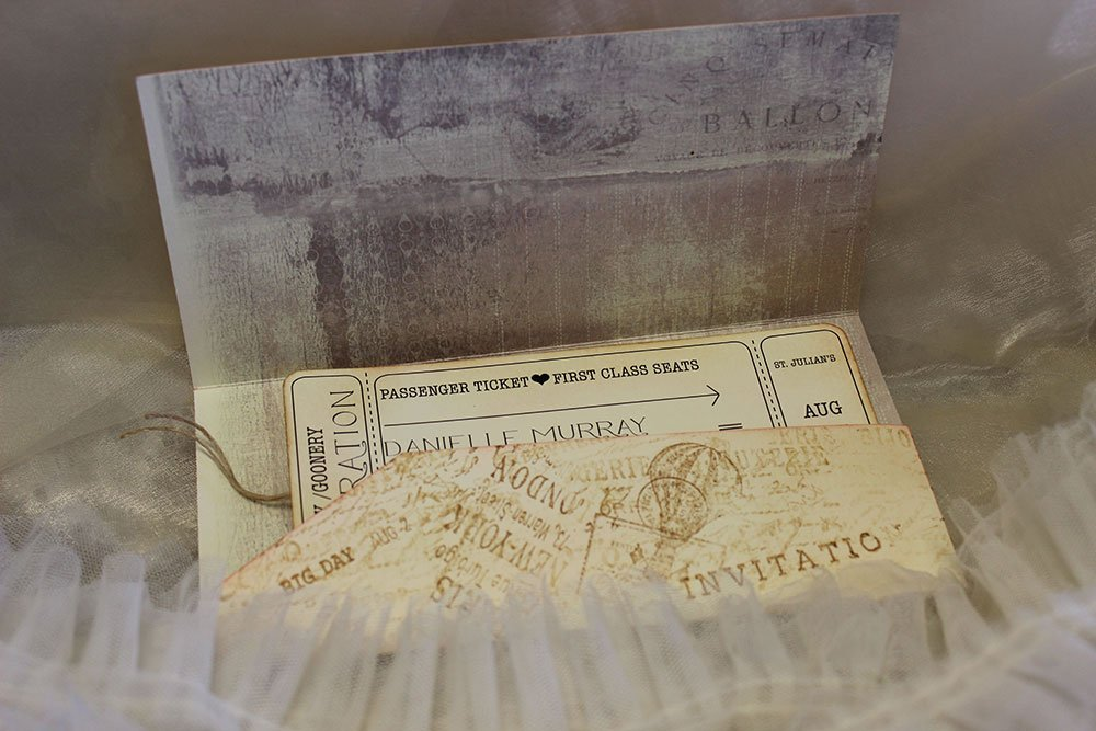 Vintage Boarding-pass Invitation