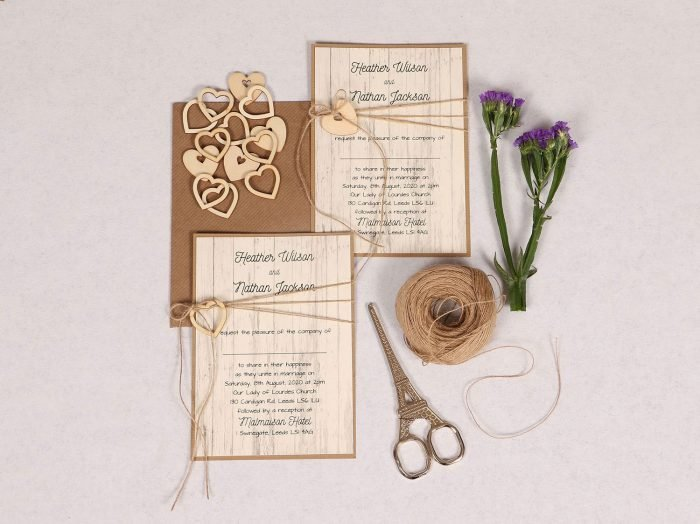 Country Chic Wedding Invitation