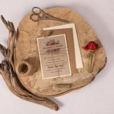 Rustic Kraft Evening Invitation