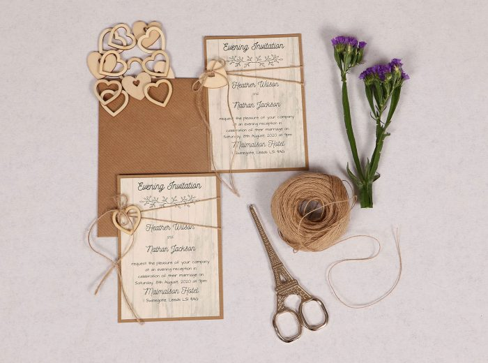 Country Chic Evening Invitation