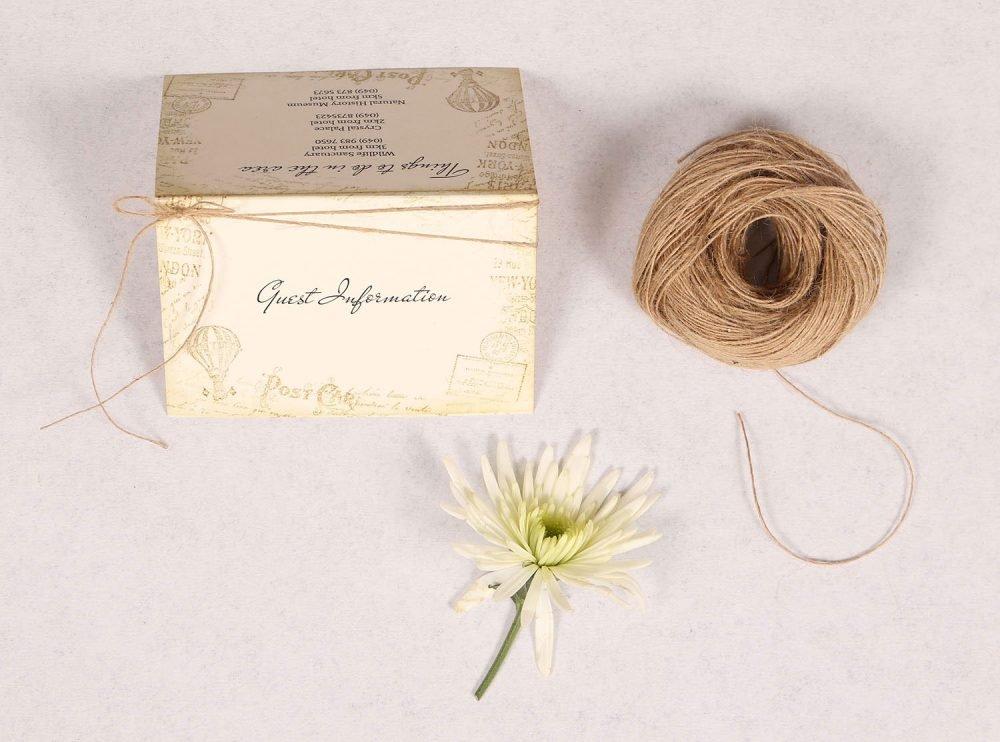 Vintage Destination Guest Information Card