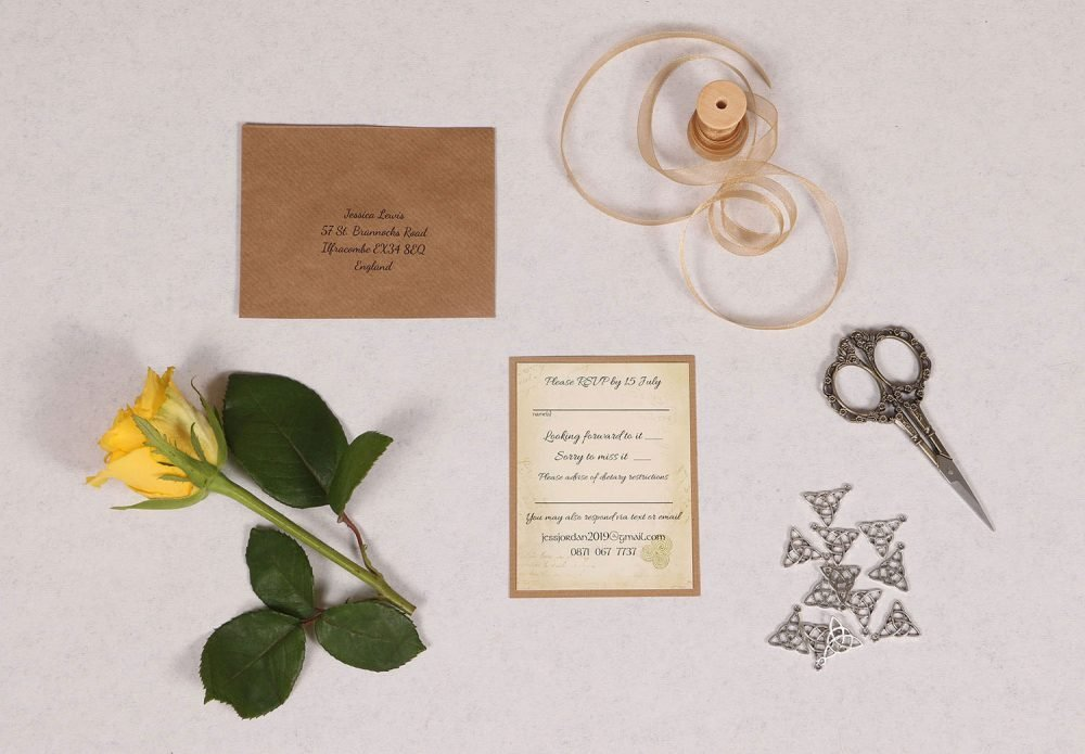 Celtic Charm RSVP Card