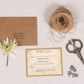 Vintage Destination RSVP Card