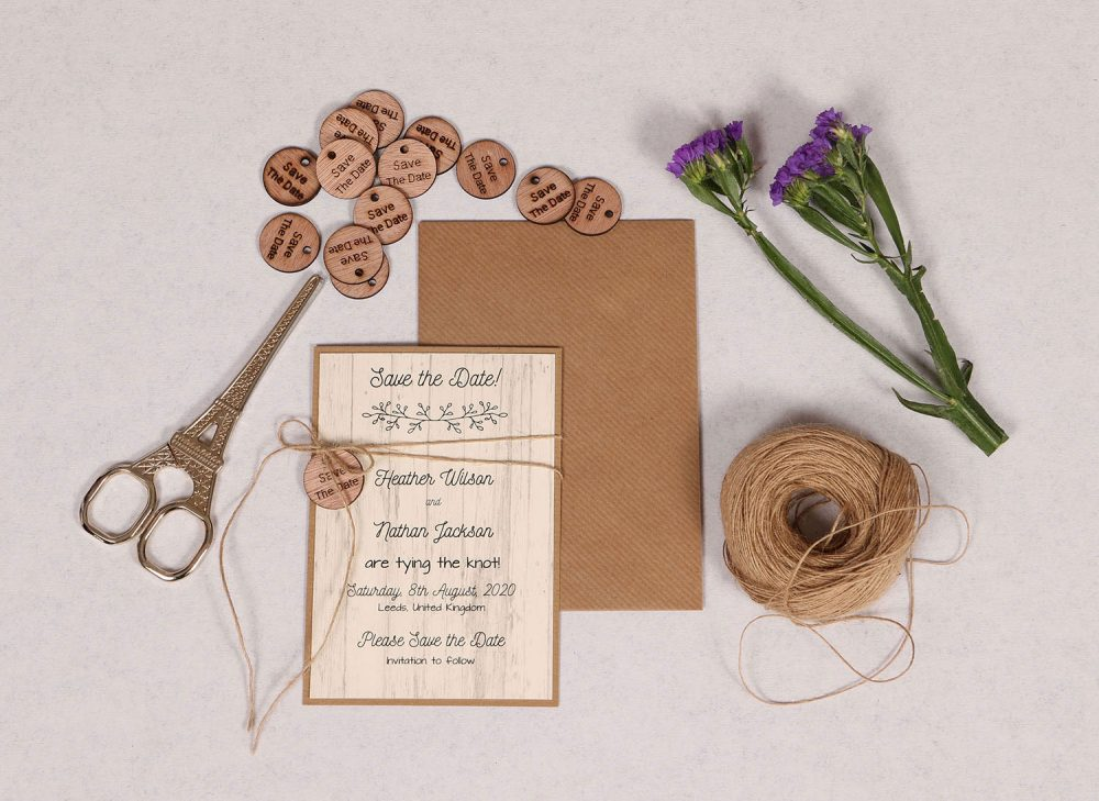 Country Chic Save the Date Card