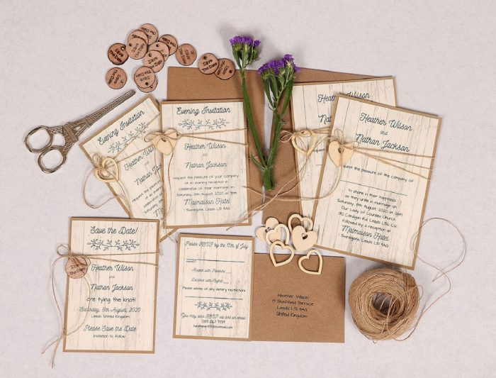 Country Chic Wedding Stationery Set