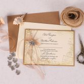 Vintage Destination Invitation Copper