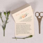 Guest Information Card with Peonies