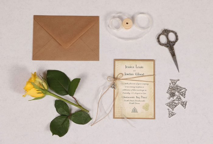 Celtic Charm Evening Invitation with Ivory Ribbon
