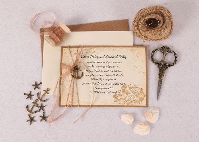 Vintage Sea Invitation