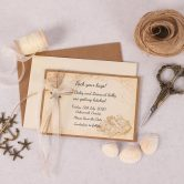 Nautical Save the Date Card with Ivory Ribbon & Charm