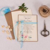 Blue Spring Breeze Invitation