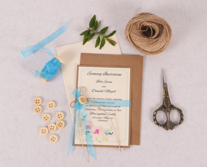 Blue Spring Breeze Evening Invite
