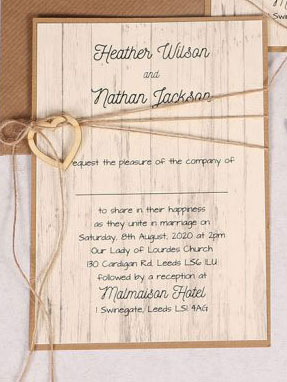 Country Chic Invitation Close Up