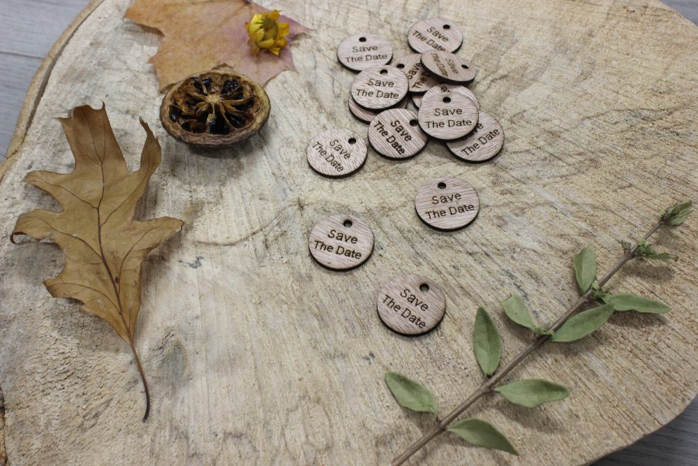 Save the Date Wood Charms