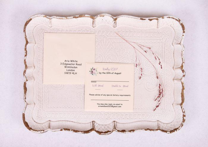 Lavender & Mauve RSVP Card