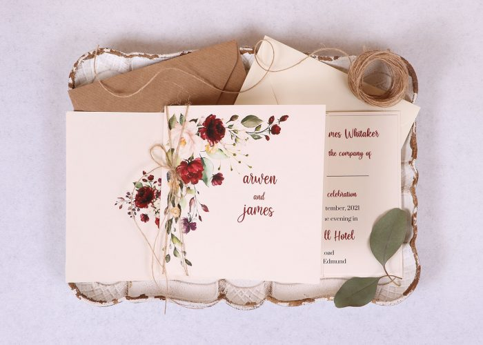 Floral Spray Wedding Invitation
