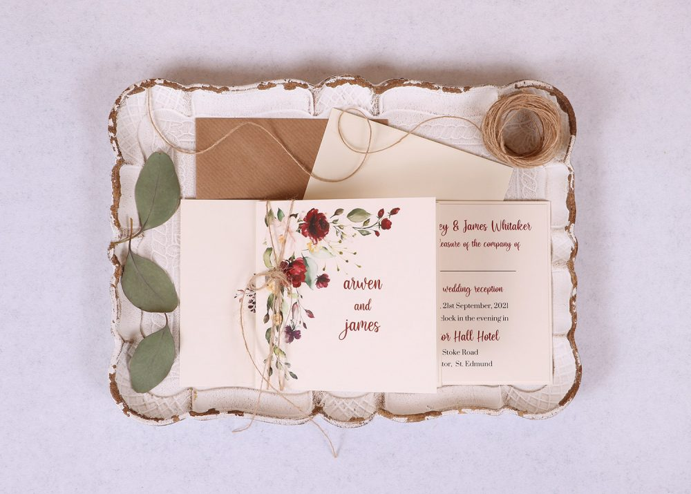 Floral Spray Evening/Reception Invitation