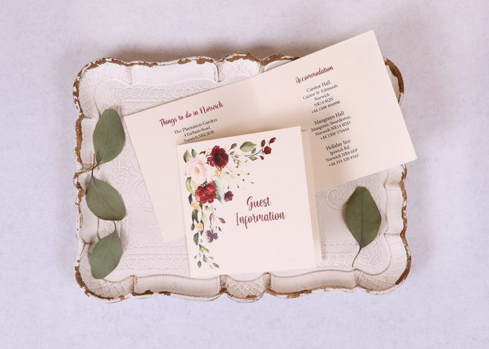Floral Spray Guest Information Card