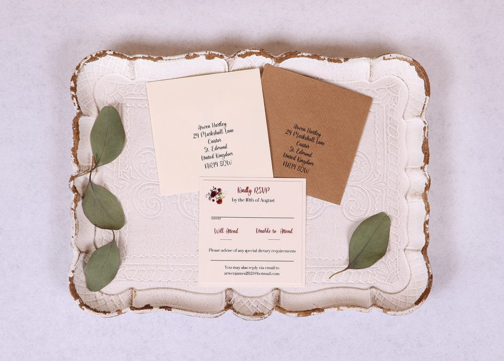 Floral Spray RSVP Card