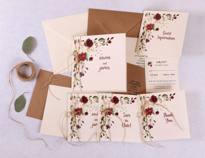 Floral Spray Wedding Stationery