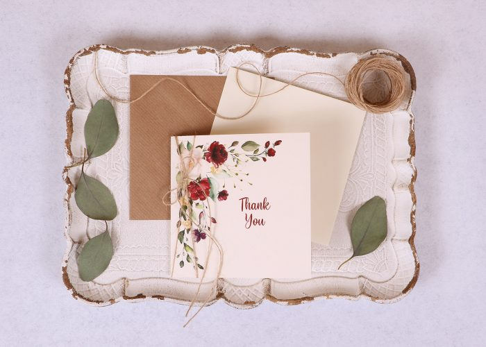 Floral Spray Thank You Card