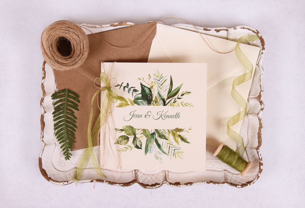 FaunaWeddingInvitationgreen