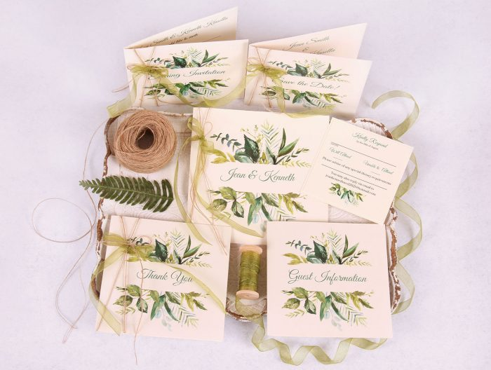 Fauna_Wedding_Stationery_Set_green