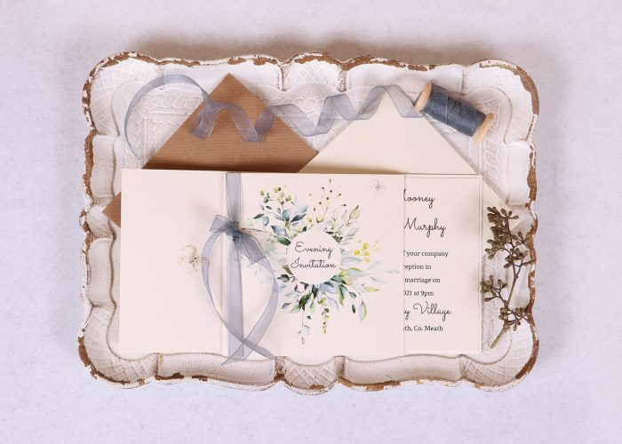 Meadow Evening Invitation - Grey