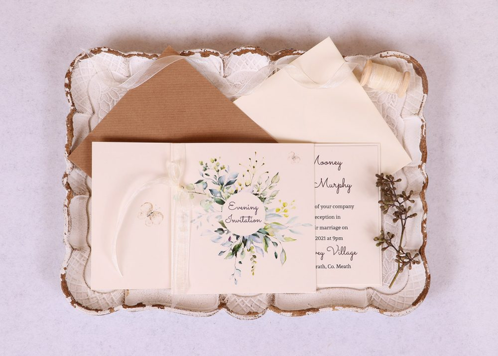 Meadow Evening Invitation - Ivory Ribbon