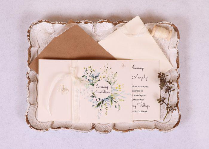 Meadow Evening Invitation - Ivory Ribbon