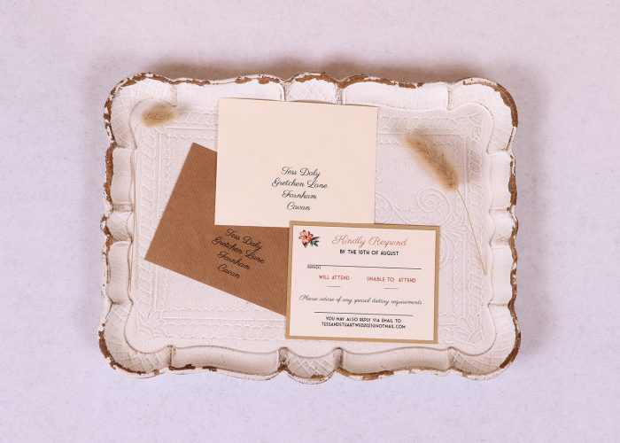 Floral Wreath RSVP Card
