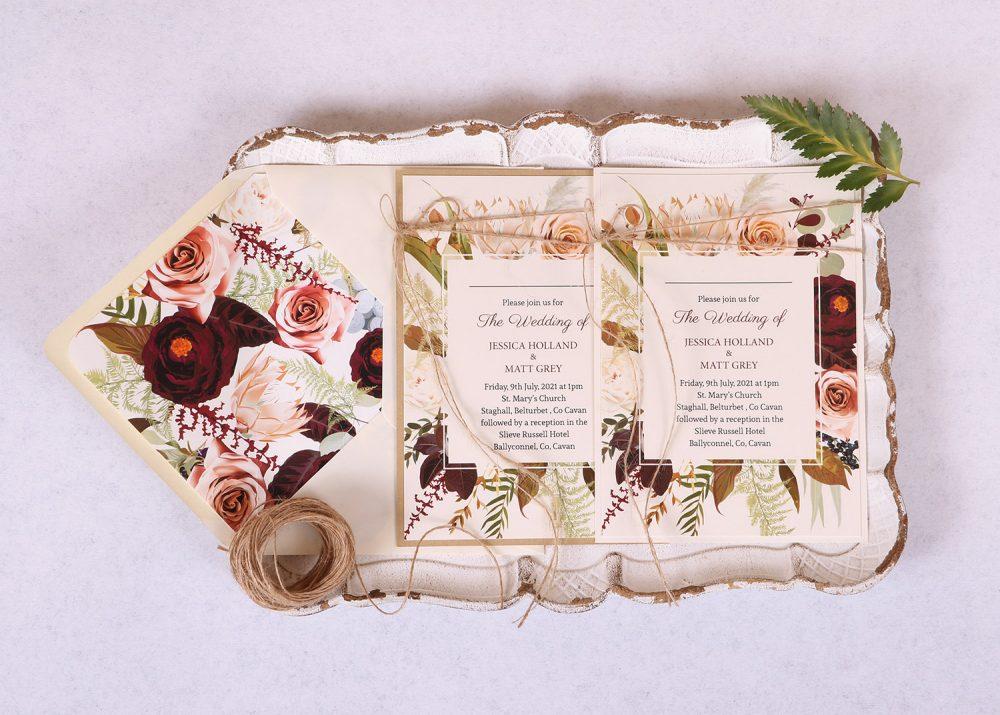 Wild Rose Wedding Invitation