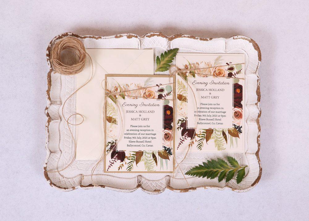 Wild Rose Reception/evening Invitation