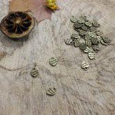 mini thank you charms antique bronze