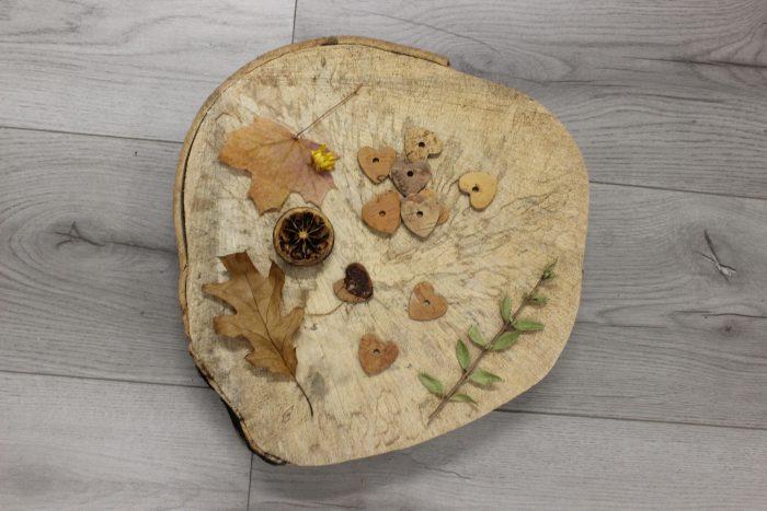 Cork wood heart