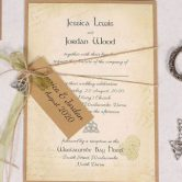 Celtic Charm Day Invitation with Green Ribbon