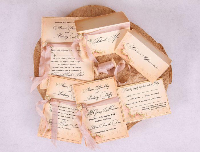 Elizabeth Vintage Wedding Stationery Set_