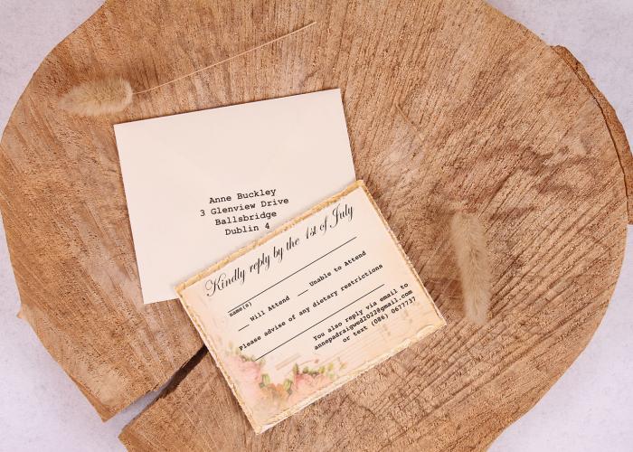 Vintage Elizabeth RSVP Card