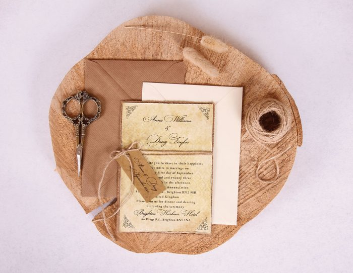 Antique Vintage Wedding Invitation