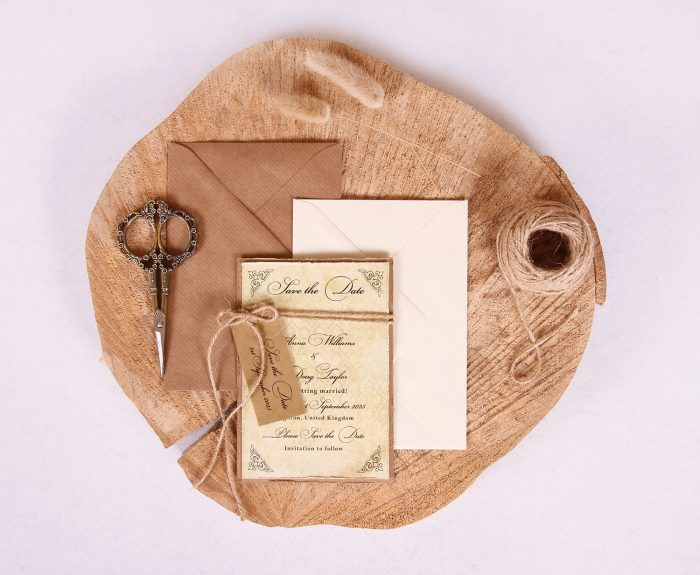 Antique Vintage Save the Date Card