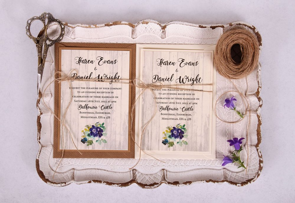 Country Bloom Evening:Reception Invitation