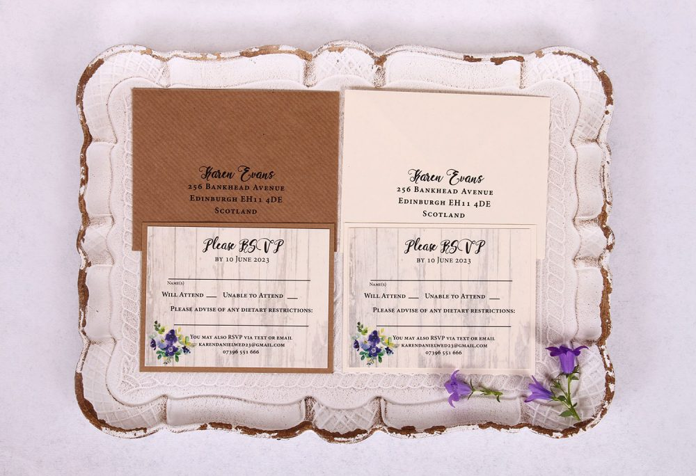 Country Bloom RSVP Card