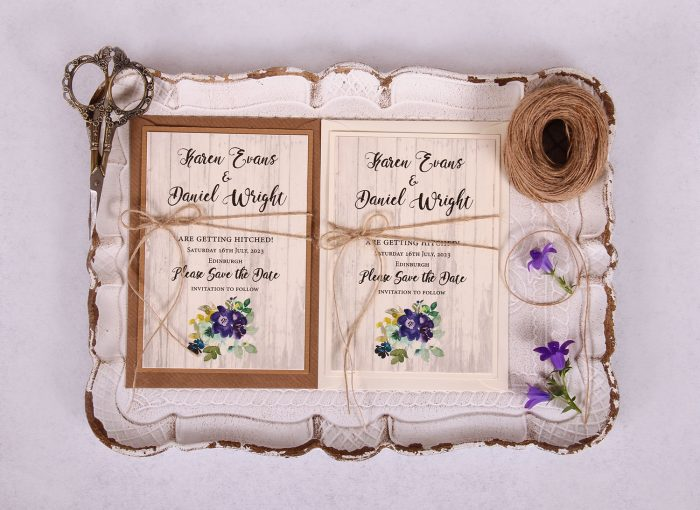 Country Bloom Save the Date Card