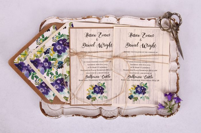 Country Bloom Wedding Invitation