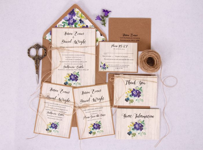 Country Bloom Wedding Stationery Suite