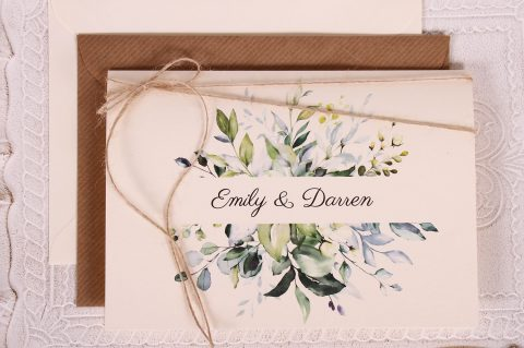 Spring Leaves Wedding Invitation